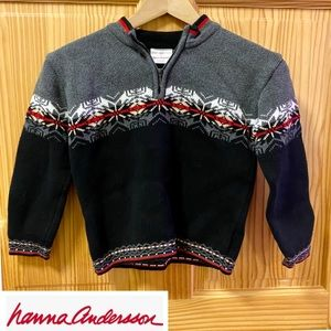 Hanna Andersson red grey white winter sweater